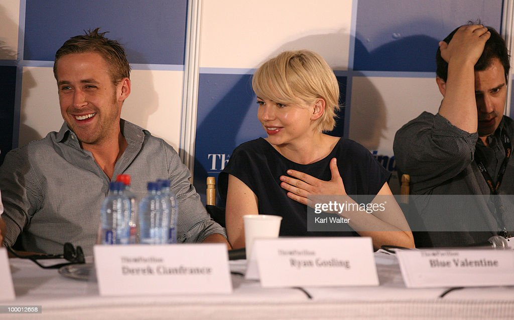 Actor Ryan Gosling and actress Michelle Williams attends the 'Industry In Focus - Blue Valentine' at the American Pavillion during the 63rd Annual Cannes Film Festival on May 20, 2010 in Cannes, France.