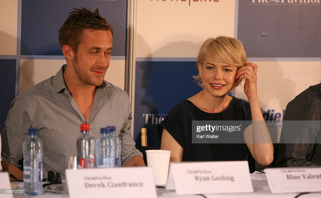 Actor Ryan Gosling and actress Michelle Williams attends the 'Industry In Focus - Blue Valentine'at the American Pavillion during the 63rd Annual Cannes Film Festival on May 20, 2010 in Cannes, France.