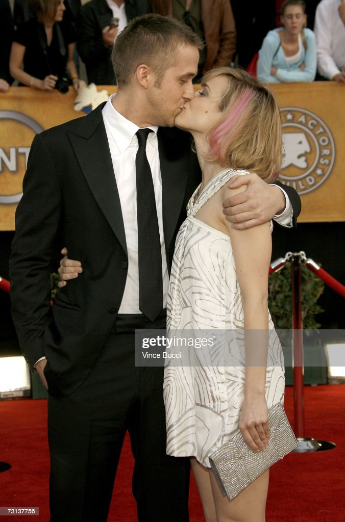 Actor Ryan Gosling and actress Rachel McAdams arrive at the 13th Annual Screen Actors Guild Awards held at the Shrine Auditorium on January 28 2007...