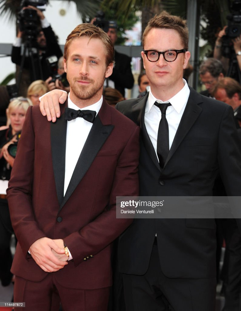 Actor <a gi-track='captionPersonalityLinkClicked' href=/galleries/search?phrase=Ryan+Gosling&family=editorial&specificpeople=214557 ng-click='$event.stopPropagation()'>Ryan Gosling</a> and director <a gi-track='captionPersonalityLinkClicked' href=/galleries/search?phrase=Nicolas+Winding+Refn&family=editorial&specificpeople=5498587 ng-click='$event.stopPropagation()'>Nicolas Winding Refn</a> attend the 'Les Bien-Aimes' Premiere and Closing Ceremony during the 64th Annual Cannes Film Festival at the Palais des Festivals on May 22, 2011 in Cannes, France.