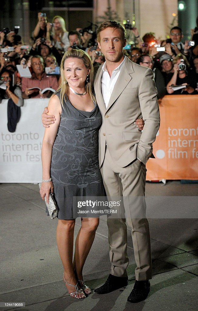 Actor <a gi-track='captionPersonalityLinkClicked' href=/galleries/search?phrase=Ryan+Gosling&family=editorial&specificpeople=214557 ng-click='$event.stopPropagation()'>Ryan Gosling</a> (R) and mother Donna Gosling arrive at 'Ides Of March' Premiere at Roy Thomson Hall during the 2011 Toronto International Film Festival on September 9, 2011 in Toronto, Canada.