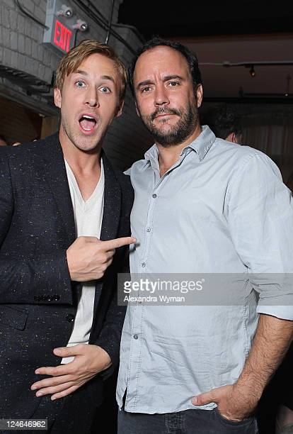 Actor Ryan Gosling and Musician/Actor Dave Matthews attend the 'Drive' party hosted by GREY GOOSE Vodka at Soho House Pop Up Club during the 2011...