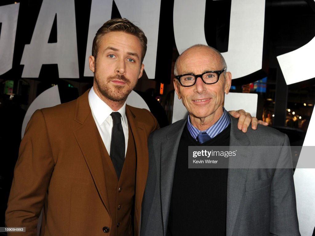 Actor <a gi-track='captionPersonalityLinkClicked' href=/galleries/search?phrase=Ryan+Gosling&family=editorial&specificpeople=214557 ng-click='$event.stopPropagation()'>Ryan Gosling</a> and producer Kevin McCormick arrive at Warner Bros. Pictures' 'Gangster Squad' premiere at Grauman's Chinese Theatre on January 7, 2013 in Hollywood, California.