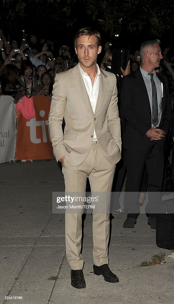 Actor <a gi-track='captionPersonalityLinkClicked' href=/galleries/search?phrase=Ryan+Gosling&family=editorial&specificpeople=214557 ng-click='$event.stopPropagation()'>Ryan Gosling</a> arrives at 'Ides Of March' Premiere at Roy Thomson Hall during the 2011 Toronto International Film Festival on September 9, 2011 in Toronto, Canada.