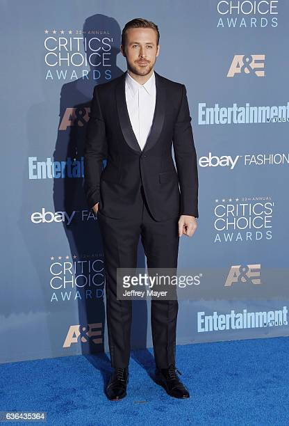 Actor Ryan Gosling arrives at The 22nd Annual Critics' Choice Awards at Barker Hangar on December 11 2016 in Santa Monica California