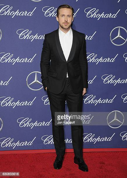 Actor Ryan Gosling arrives at the 28th Annual Palm Springs International Film Festival Film Awards Gala at Palm Springs Convention Center on January...