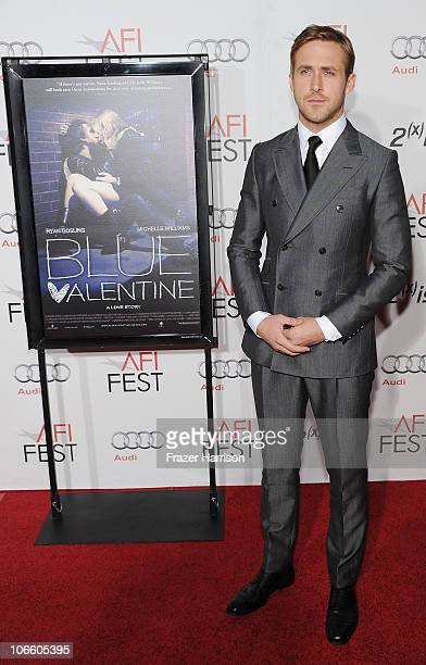 Actor Ryan Gosling arrives at the 'Blue Valentine' screening during AFI FEST 2010 presented by Audi held at Grauman's Chinese Theatre on November 6...
