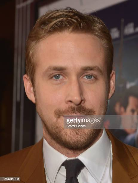 Actor Ryan Gosling arrives at the 'Gangster Squad' premiere at Grauman's Chinese Theatre on January 7 2013 in Hollywood California