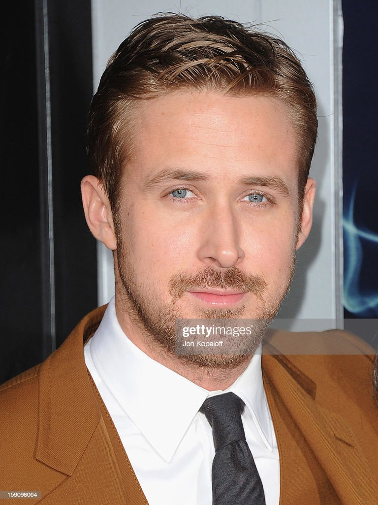 Actor <a gi-track='captionPersonalityLinkClicked' href=/galleries/search?phrase=Ryan+Gosling&family=editorial&specificpeople=214557 ng-click='$event.stopPropagation()'>Ryan Gosling</a> arrives at the Los Angeles Premiere 'Gangster Squad' at Grauman's Chinese Theatre on January 7, 2013 in Hollywood, California.