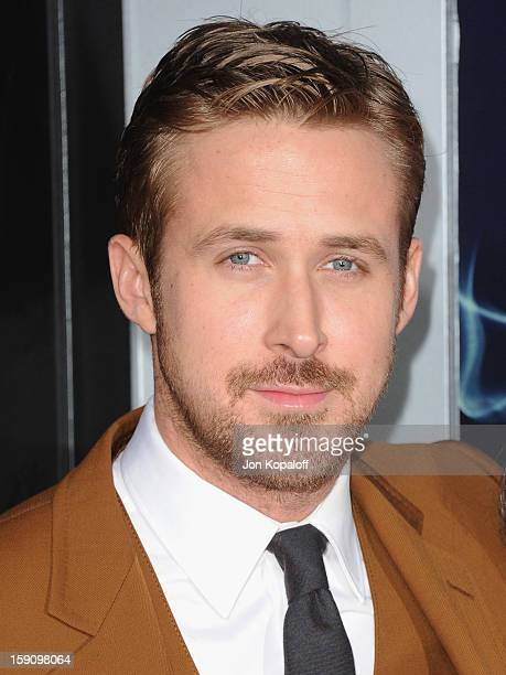 Actor Ryan Gosling arrives at the Los Angeles Premiere 'Gangster Squad' at Grauman's Chinese Theatre on January 7 2013 in Hollywood California