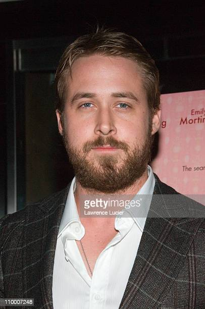 Actor Ryan Gosling arrives at the New York screening of Lars And The Real Girl October 3 at the Paris Theater in New York City