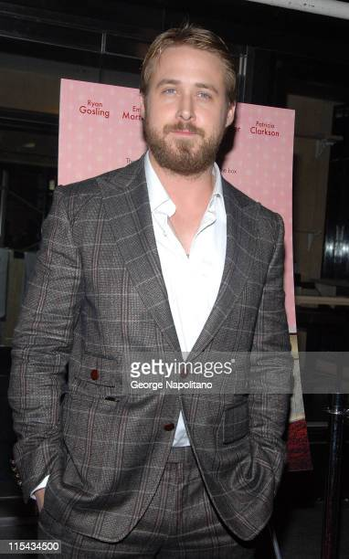 Actor Ryan Gosling at the NY Premiere Of 'Lars And The Real Girl' at the Paris Theatre in New York October 3 2007