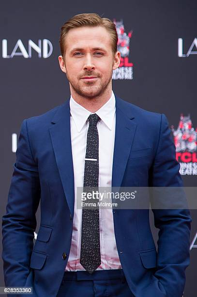 Actor Ryan Gosling attends 'Ryan Gosling and Emma Stone hand and footprint ceremony' at TCL Chinese Theatre IMAX on December 7 2016 in Hollywood...