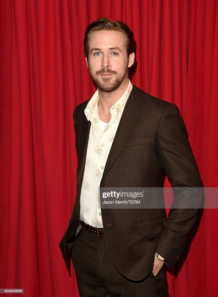 Actor <a gi-track='captionPersonalityLinkClicked' href=/galleries/search?phrase=Ryan+Gosling&family=editorial&specificpeople=214557 ng-click='$event.stopPropagation()'>Ryan Gosling</a> attends the 16th Annual AFI Awards at Four Seasons Hotel Los Angeles at Beverly Hills on January 8, 2016 in Beverly Hills, California.