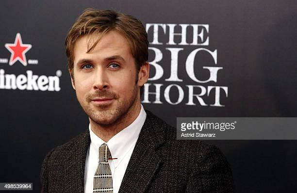 Actor Ryan Gosling attends 'The Big Short' New York premiere at Ziegfeld Theater on November 23 2015 in New York City