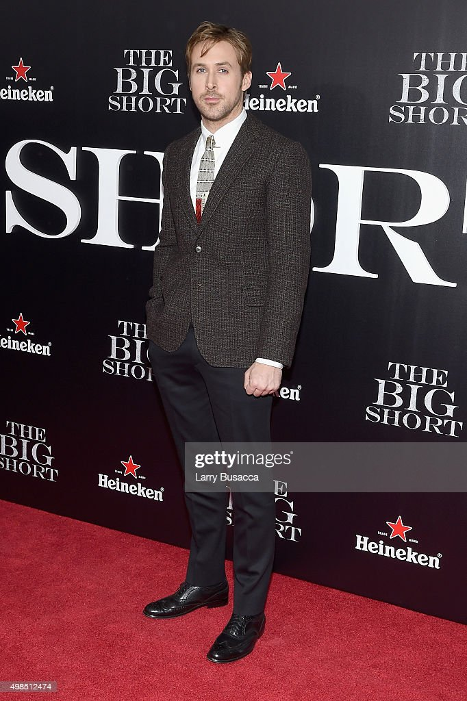 Actor Ryan Gosling attends 'The Big Short' Premiere at Ziegfeld Theatre on November 23, 2015 in New York City.