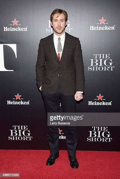 Actor Ryan Gosling attends 'The Big Short' Premiere at Ziegfeld Theatre on November 23 2015 in New York City