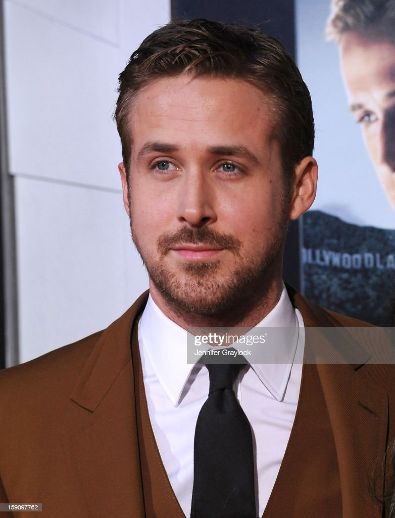 Actor <a gi-track='captionPersonalityLinkClicked' href=/galleries/search?phrase=Ryan+Gosling&family=editorial&specificpeople=214557 ng-click='$event.stopPropagation()'>Ryan Gosling</a> attends the 'Gangster Squad' Los Angeles premiere held at Grauman's Chinese Theatre on January 7, 2013 in Hollywood, California.