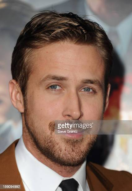 Actor Ryan Gosling attends the 'Gangster Squad' premiere at Grauman's Chinese Theatre on January 7 2013 in Hollywood California