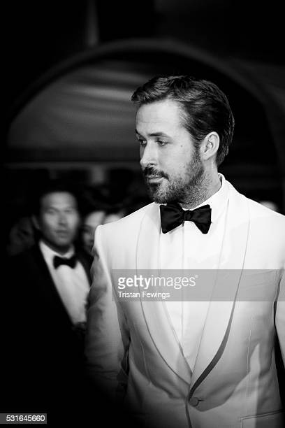 Actor Ryan Gosling attends 'The Nice Guys' premiere during the 69th annual Cannes Film Festival at the Palais des Festivals on May 15 2016 in Cannes...