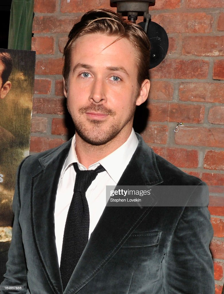 Actor <a gi-track='captionPersonalityLinkClicked' href=/galleries/search?phrase=Ryan+Gosling&family=editorial&specificpeople=214557 ng-click='$event.stopPropagation()'>Ryan Gosling</a> attends 'The Place Beyond The Pines' New York Premiere After Party at The Bowery Hotel on March 28, 2013 in New York City.
