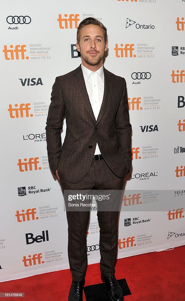 Actor <a gi-track='captionPersonalityLinkClicked' href=/galleries/search?phrase=Ryan+Gosling&family=editorial&specificpeople=214557 ng-click='$event.stopPropagation()'>Ryan Gosling</a> attends 'The Place Beyond The Pines' premiere during the 2012 Toronto International Film Festival at Princess of Wales Theatre on September 7, 2012 in Toronto, Canada.
