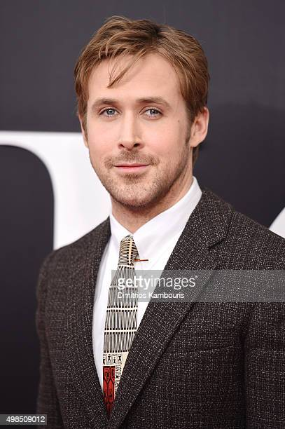 Actor Ryan Gosling attends the premiere of 'The Big Short' at Ziegfeld Theatre on November 23 2015 in New York City