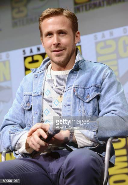 Actor Ryan Gosling attends the Warner Bros Pictures 'Blade Runner 2049' Presentation during ComicCon International 2017 at San Diego Convention...