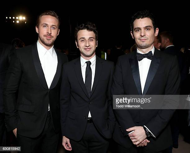 Actor Ryan Gosling composer Justin Hurwitz and director Damien Chazelle attend the 28th Annual Palm Springs International Film Festival Film Awards...