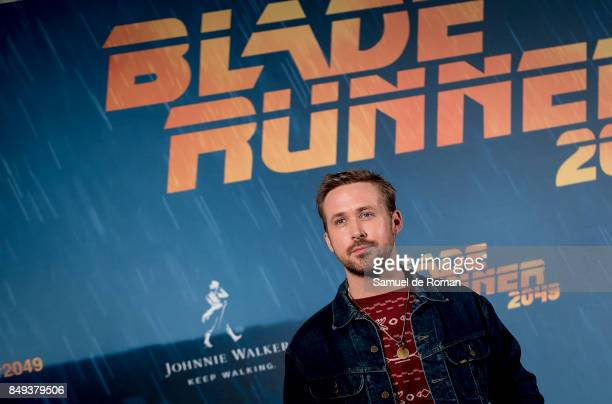 Actor Ryan Gosling during 'Blade Runner 2049' Madrid Photocall on September 19 2017 in Madrid Spain