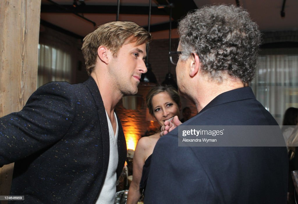 Actor Ryan Gosling, Kimberly Shlain and actor Albert Brooks attend the 'Drive' party hosted by GREY GOOSE Vodka at Soho House Pop Up Club during the 2011 Toronto International Film Festival on September 10, 2011 in Toronto, Canada.