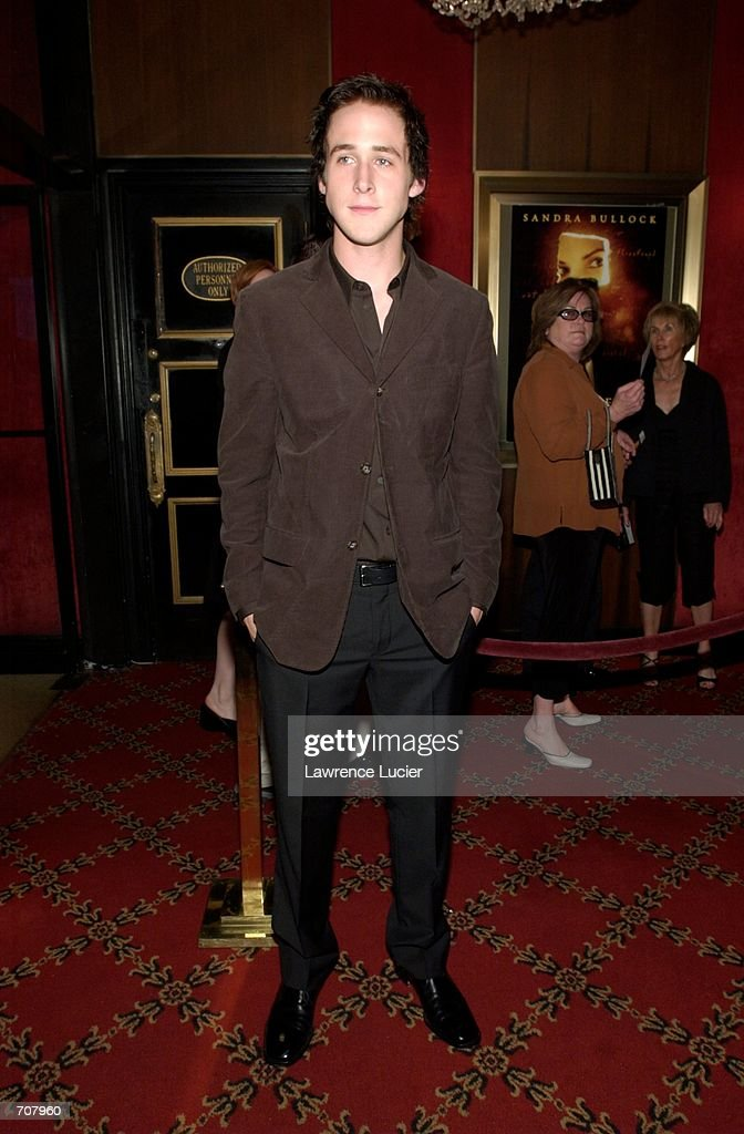 Actor Ryan Goslingl arrives at the premiere of the film Murder by Numbers April 16, 2002 in New York City. Actress Sandra Bullock stars in the film.