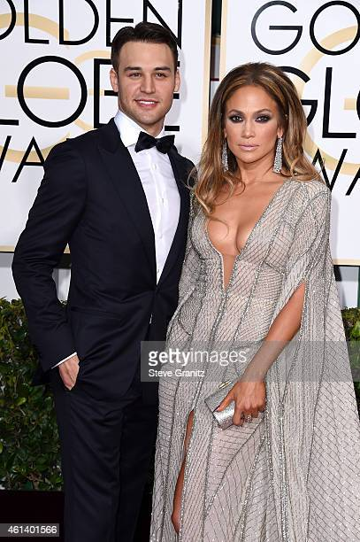 Actor Ryan Guzman and entertainer Jennifer Lopez attend the 72nd Annual Golden Globe Awards at The Beverly Hilton Hotel on January 11 2015 in Beverly...