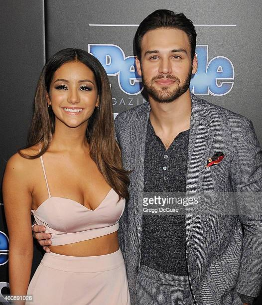 Actor Ryan Guzman and Melanie Iglesias arrive at The PEOPLE Magazine Awards at The Beverly Hilton Hotel on December 18 2014 in Beverly Hills...