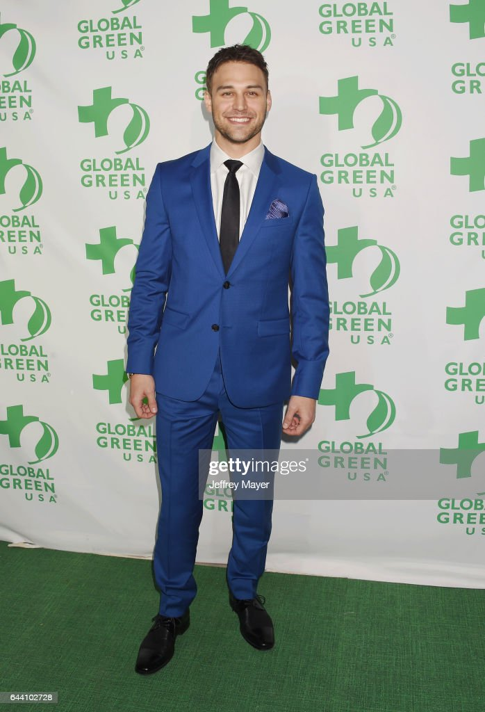 Actor Ryan Guzman arrives at the 14th Annual Global Green Pre-Oscar Gala at TAO Hollywood on February 22, 2017 in Los Angeles, California.