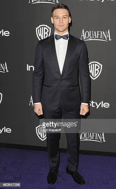 Actor Ryan Guzman arrives at the 16th Annual Warner Bros And InStyle PostGolden Globe Party at The Beverly Hilton Hotel on January 11 2015 in Beverly...