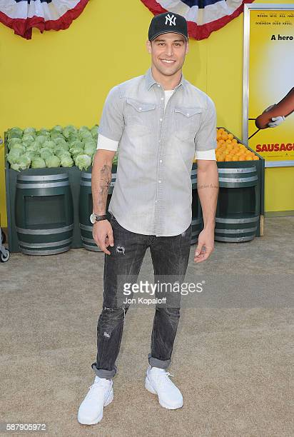 Actor Ryan Guzman arrives at the Los Angeles Premiere 'Sausage Party' at Regency Village Theatre on August 9 2016 in Westwood California