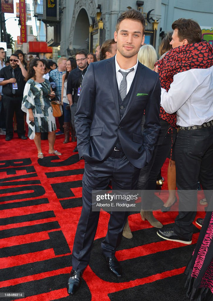 Actor Ryan Guzman arrives to the Los Angeles premiere of Summit Entertainment's 'Step Up Revolution' at Grauman's Chinese Theatre on July 17, 2012 in Hollywood, California.