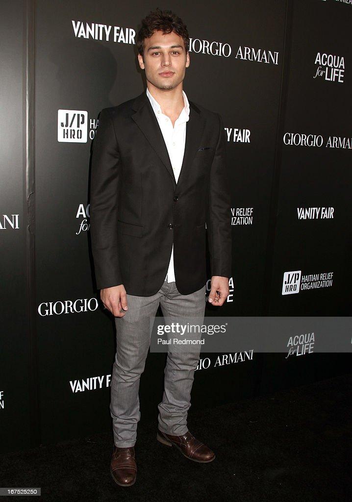 Actor Ryan Guzman attends Giorgio Armani party during Paris Photo LA - Opening Night at Paramount Studios on April 25, 2013 in Hollywood, California.
