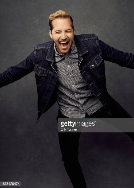 Actor Ryan Hansen from 'Literally Right Before Aaron' poses at the 2017 Tribeca Film Festival portrait studio on on April 24 2017 in New York City