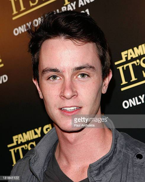 Actor Ryan Kelley arrives at the BluRay/DVD launch of 'Family Guy It's A Trap' at SupperClub Los Angeles on December 14 2010 in Los Angeles California