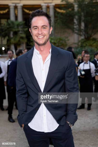 Actor Ryan Kelley arrives for the amfAR Paris Dinner at Le Petit Palais on July 2 2017 in Paris France