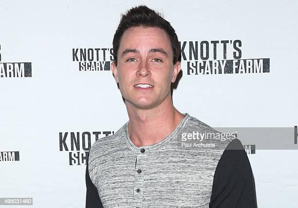 Actor Ryan Kelley attends the Knott's Scary Farm black carpet at Knott's Berry Farm on October 1 2015 in Buena Park California