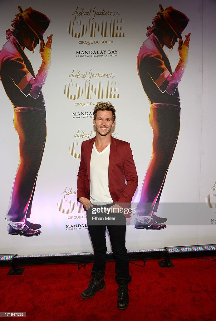 Actor Ryan Kwanten arrives at the world premiere of 'Michael Jackson ONE by Cirque du Soleil' at THEhotel at Mandalay Bay on June 29 2013 in Las...