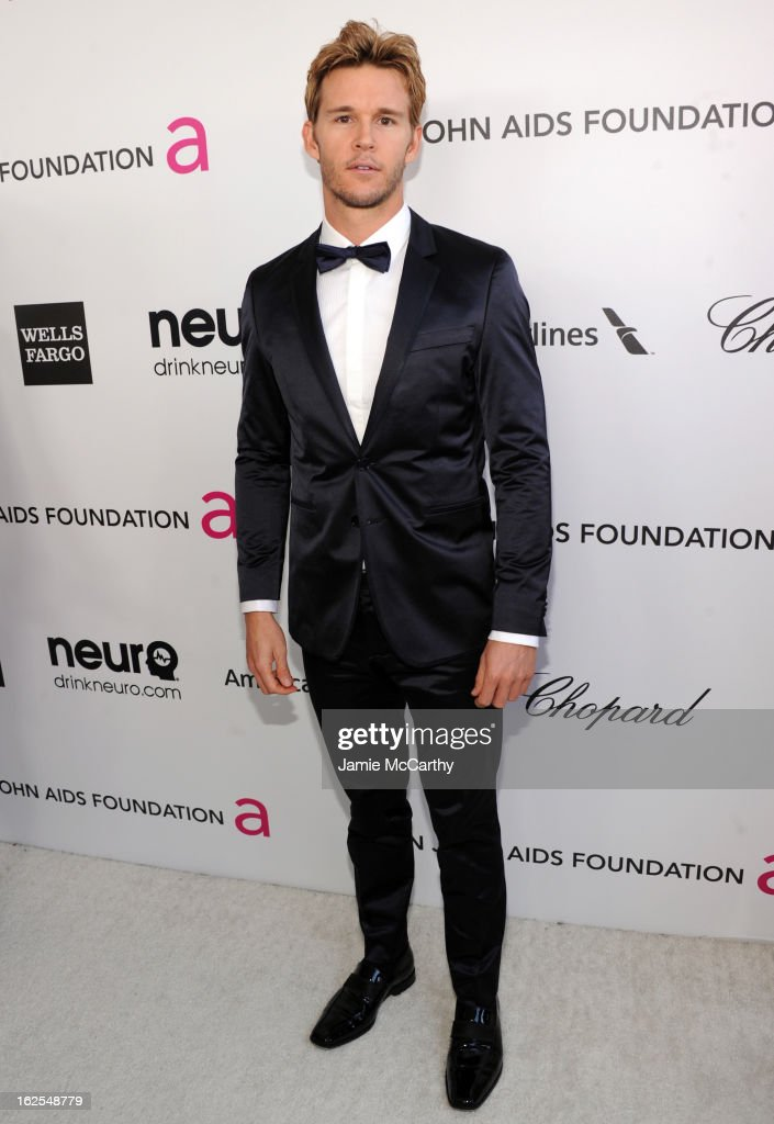 Actor Ryan Kwanten attends the 21st Annual Elton John AIDS Foundation Academy Awards Viewing Party at West Hollywood Park on February 24 2013 in West...