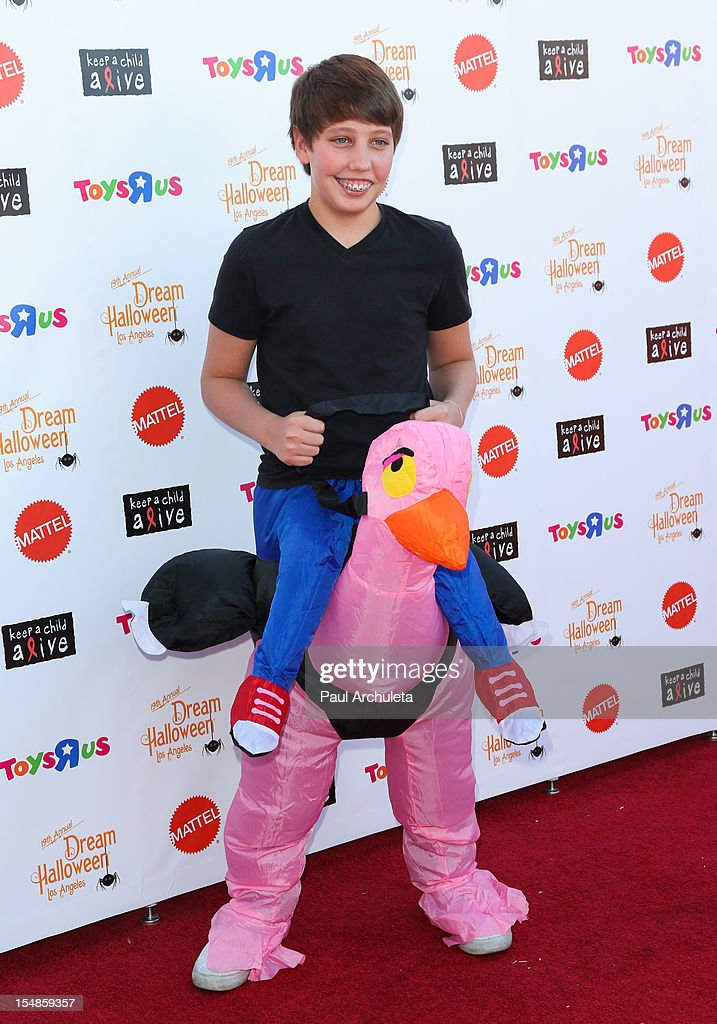 Actor Ryan Lee attends the Keep A Child Alive 2012 Dream Halloween Los Angeles charity event at Barker Hangar on October 27, 2012 in Santa Monica, California.