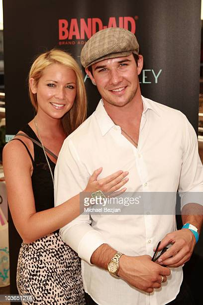 Actor Ryan Merriman and Nicole Merriman at the BandAid booth during Kari Feinstein Primetime Emmy Awards Style Lounge Day 1 held at Montage Beverly...