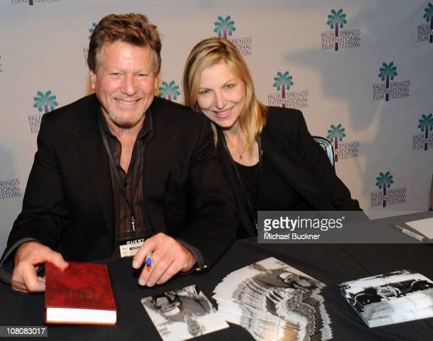 Actor Ryan O'Neal and actress Tatum O'Neal attend the 'Paper Moon' Screening at the Camelot Theatre during the 22nd Annual Palm Springs International...
