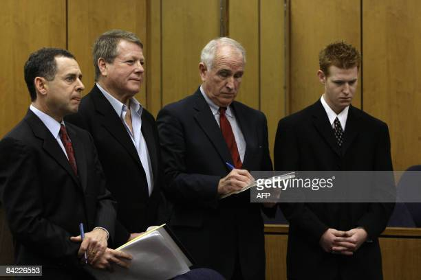 Actor Ryan O'Neal and his attorney Mark Werksman appears at the courthouse with his son Redmond O'Neal and his attorney William Slattery in Malibu...