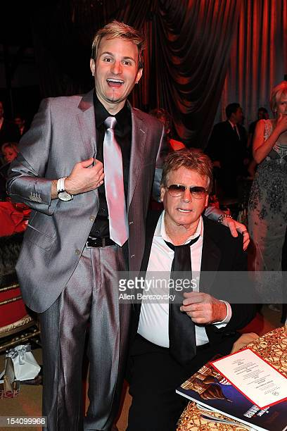 Actor Ryan O'Neal and musician Jaysin Voxx attend the Beckstrand Cancer Foundation's 9th annual Diamond Pearl Ball 'An Evening in Russia' at Moscow...